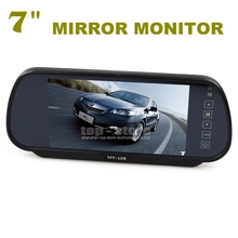 DIYKIT 7 Inch TFT LCD Display Rear View Car Mirror Monitor With 2 Video Input For Car CCD Camera Cam / DVD