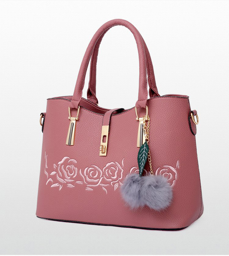 125fc25ff135 Fashion Women PU Leather Handbags Luxury Ladies Shoulder Bag Casual 3  Pieces Sets Tote Female Bags Gray 34mm*25mm*16mm
