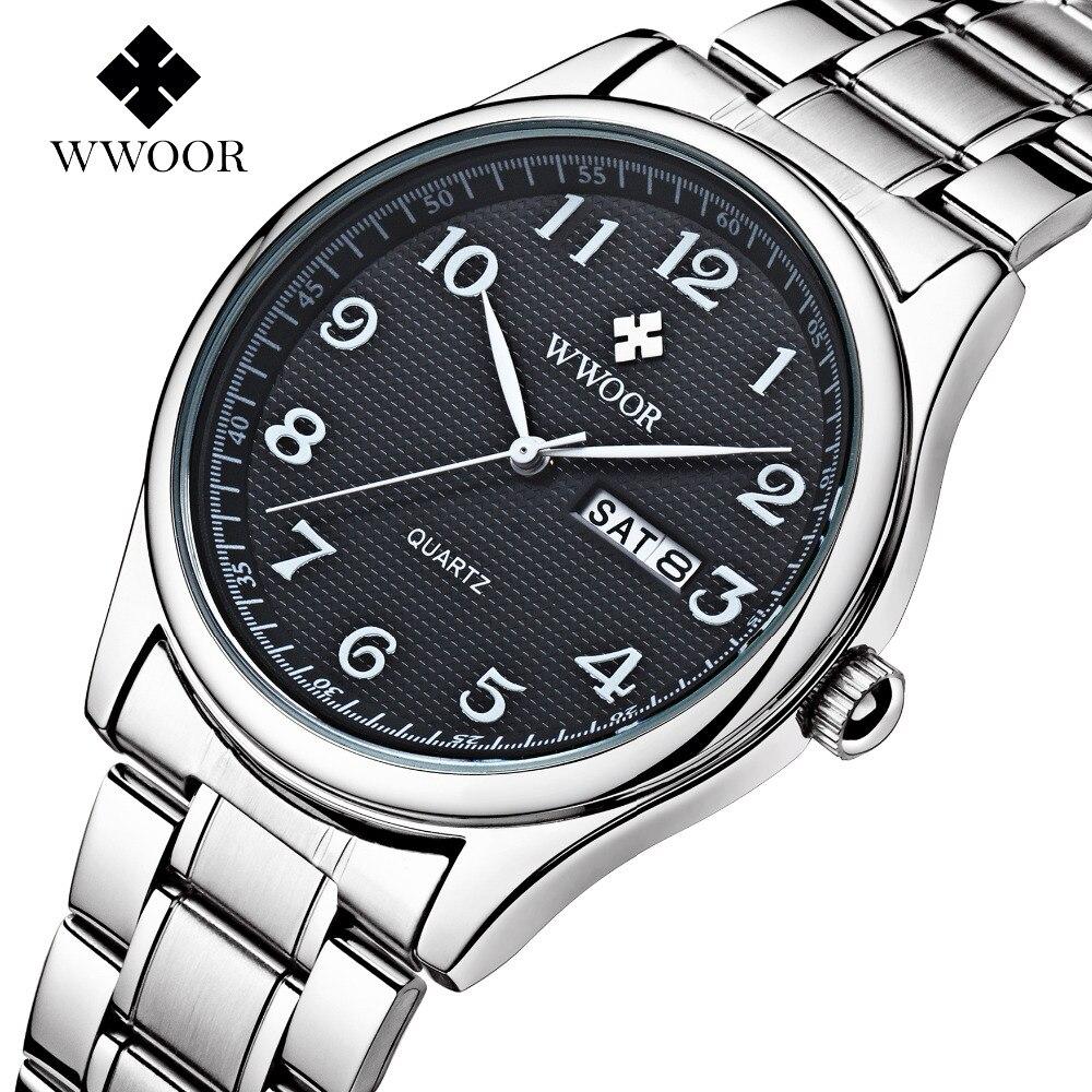 Top Brand WWOOR 8805 Watches Men Fashion Casual Top Brand Luxury Business Full Steel Waterproof Quartz Wrist Watch Male Clock babyliss 8805 купить в спб