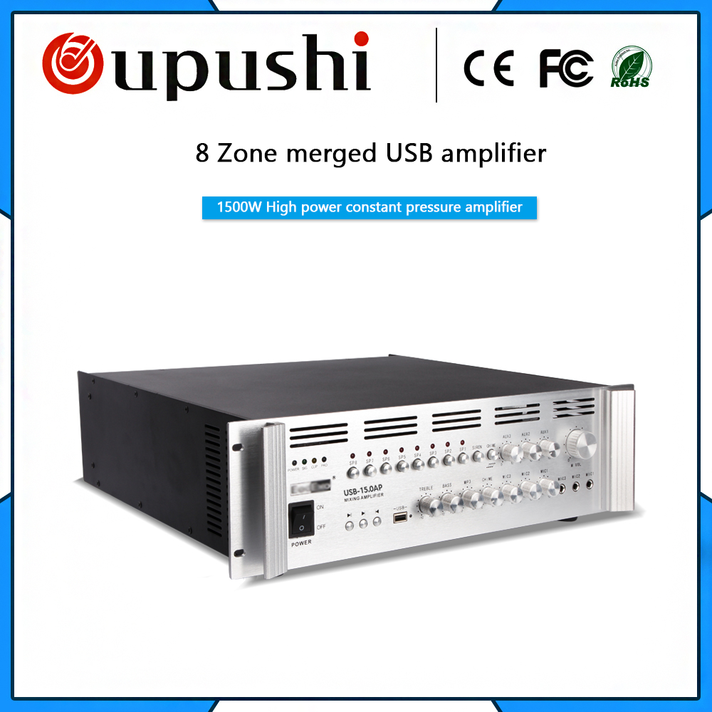 USB-15.0AP 1500w Professional amplifier and power amplifier with usb High power amplifier цена