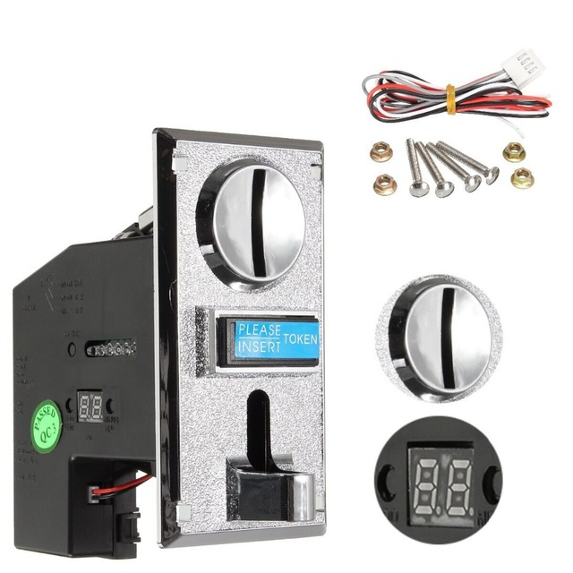 US $12 83 31% OFF Multi Coin Acceptor Electronic Roll Down Coin Acceptor  Selector Mechanism Vending Machine Mech Arcade Game Ticket Redemption-in  Coin