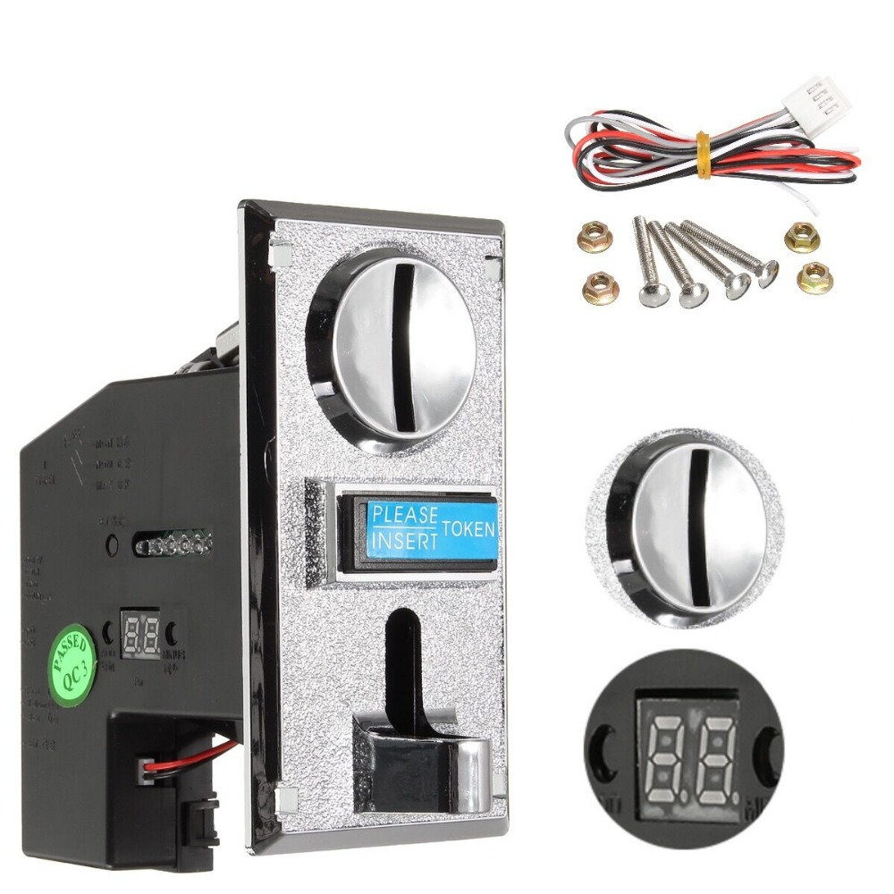 Multi Coin Acceptor Electronic Roll Down Coin Acceptor Selector Mechanism Vending Machine Mech Arcade Game Ticket Redemption