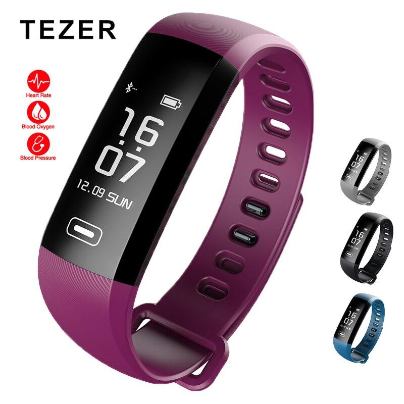 Original Tezer R5 Max สายรัดข้อมือสมาร์ท Heart rate ความดันโลหิตสมาร์ทสายรัดข้อมือ pedometer smart watch สำหรับ iOS Android-ใน สายรัดข้อมืออัจฉริยะ จาก อุปกรณ์อิเล็กทรอนิกส์ บน AliExpress - 11.11_สิบเอ็ด สิบเอ็ดวันคนโสด 1