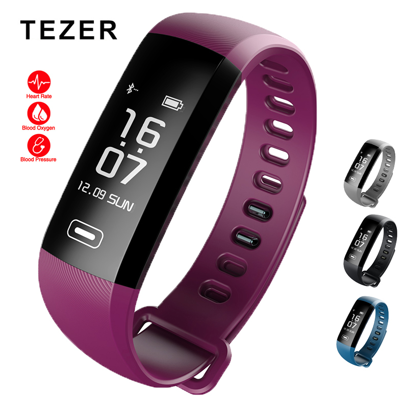 Originale Tezer R5 Max intelligente wristband frequenza cardiaca pressione Sanguigna sport intelligente fascia di polso pedometro smart watch per iOS Android
