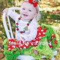 Free Shipping Retail Christmas Pettiskirt,Toddler Christmas Outfit,Polka Dot Petti Skirt Baby Girls