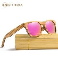 KITHDIA Brand Naturl Wood Sunglasses Women Retro Vintage Polarized Wooden Glasses Oculos De Sol Goggle Bamboo