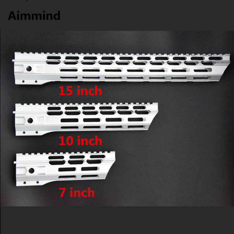 7 10 12 15 Inch Picatinny Mlok Handguard Rails Free Float Ar 15 Handguard Quad Rail For AEG M4 M16 AR15 For Hunting Shooting