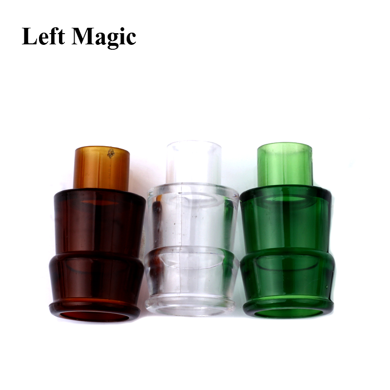3 Pcs/Lot Vanish Bottle Magic Tricks Three Color Plastic Bottles Vanishing Wine Bottle Magic Props Close Up Stage Magic Tools image