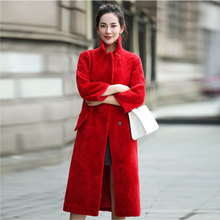 New Women's Fur Coat Autumn and Winter 2016 Fashion Thicken Warm Lamb Fur Double-faced Fur Coat Long Sheep Fur Coat Female
