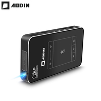 AODIN 1+32G WIFI Portable Projector Smart Multi touch HD DLP Projector HDMI mini Pocket Projector LED Android Home Theater M8S