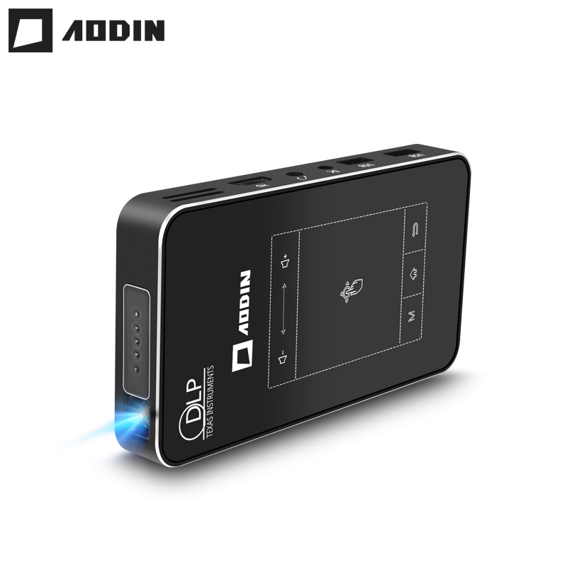 AODIN 1+32G WIFI Portable Projector Smart Multi-touch HD DLP Projector HDMI mini Pocket Projector LED Android Home Theater M8S skylarpu new for garmin etrex h etrexh handheld gps navigator lcd display screen panel free shipping