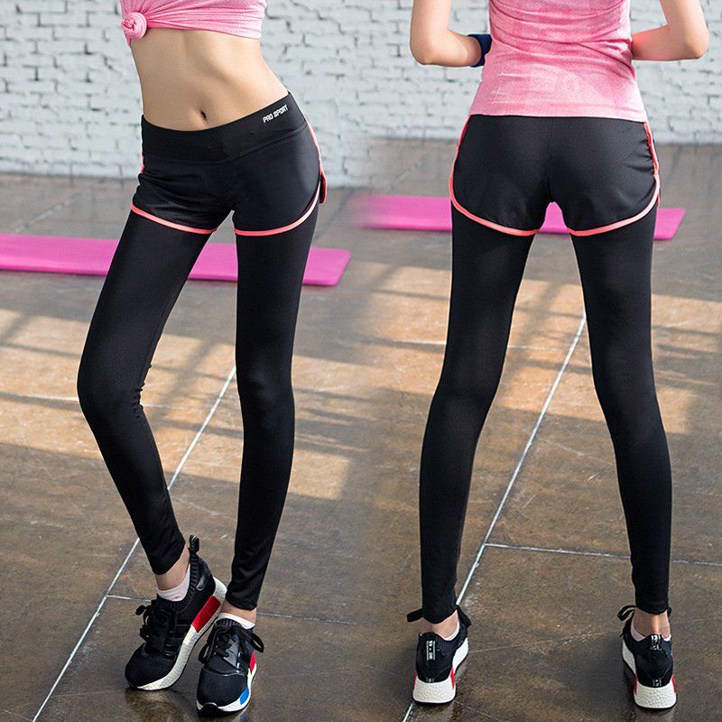 a90b6d5c96f Yoga Pants Fitness Stretch Tight Quick Dry Sports Pants Exercise Women Yoga  Tights Elastic Running Trousers Slim Aerobics Pants