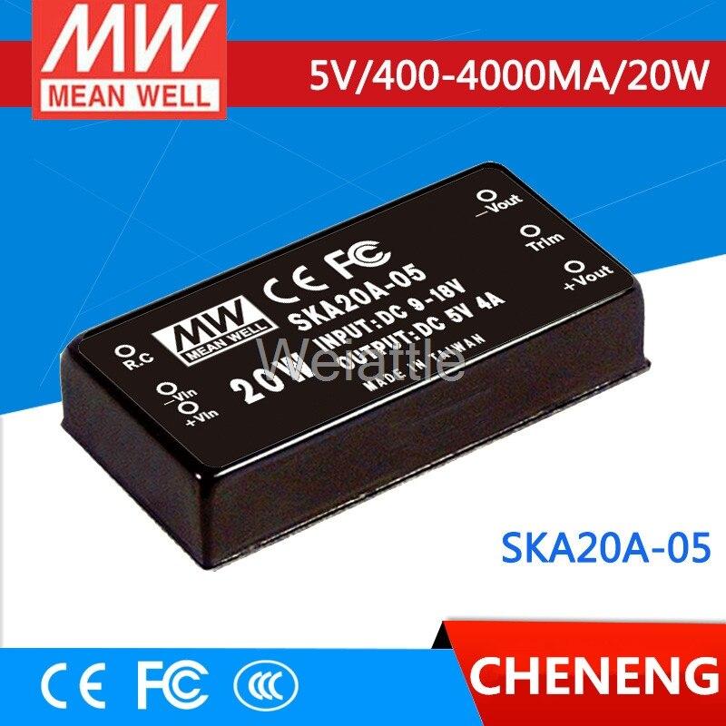 цена на MEAN WELL original SKA20A-05 5V 4000mA meanwell SKA20 5V 20W DC-DC Regulated Single Output Converter