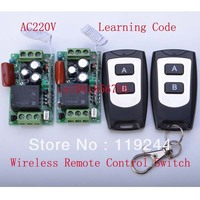 Free Shiping LED SMD Light Power ON OFF AC220V10A 1CH Wireless Switch 200M RF Receiver Transmitter