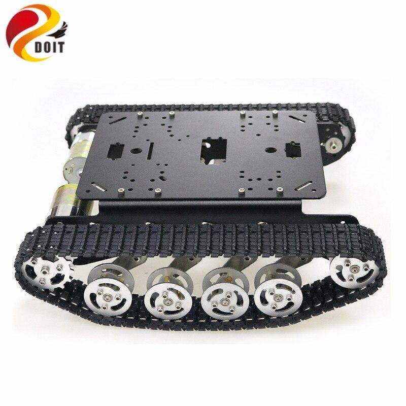 TS100 amortisseur métal Robot réservoir voiture Kit châssis pour Arduino uno r3 framboise chenilles chenille système de suspension - 4