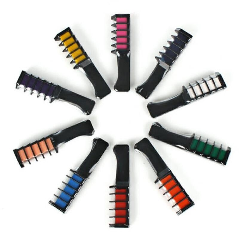Купить с кэшбэком Professional 10 Colors Mini Temporary Hair Dye Disposable Personal Salon Use Crayons Hair Dyeing Tool Dropshipping
