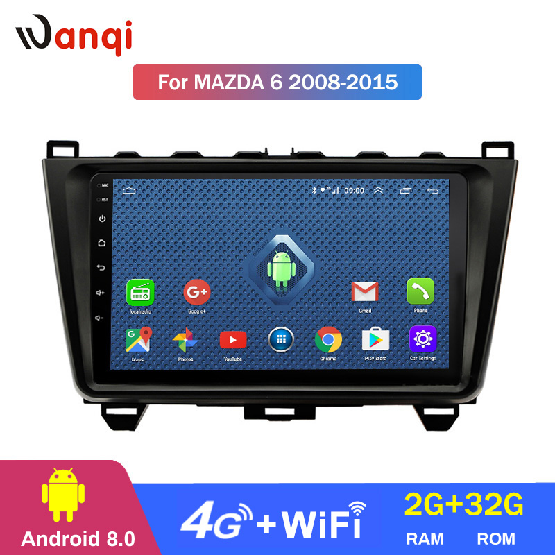 4G Lte All Netcom Android 8.0 Car Head Unit Radio <font><b>GPS</b></font> <font><b>Navigation</b></font> For <font><b>Mazda</b></font> <font><b>6</b></font> Rui wing 2008-2015 Multimedia Player image