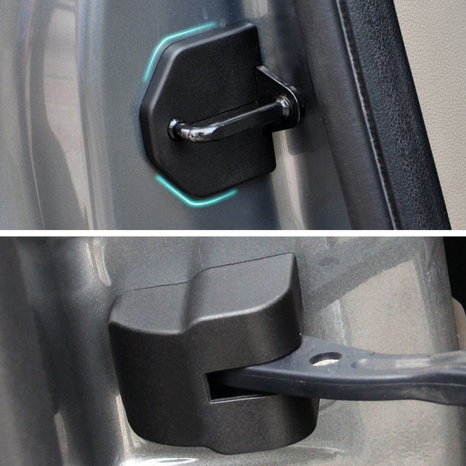 8Pcs/set Car Door Lock Decoration Cover Car Covers Door Stopper Protection Cover For Ford Focus 2 MK2 2005-2013