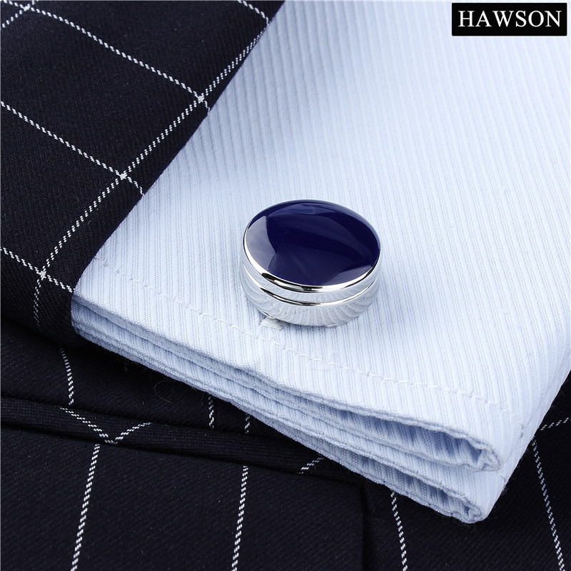 Blue&Black Men Cufflinks Button Cover Mens Wedding Dress Cover Buttons Jewelry Elegance Cuff links
