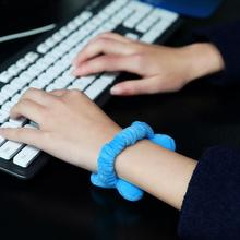 2PCS Office Wrist Pad Mouse Wristband Wrist Guards Hair Band Mouse Wrist Support Super Soft Freely Moveable Wrist Hand Pillow