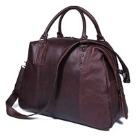J.M.D Genuine Cow Leather Travel Bag Unique Tote Luggage Bags 7071C 1