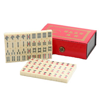 Portable Chinese Mahjong Rare Game Set Vintage Mahjong Table Game Mah Jong Set with Box