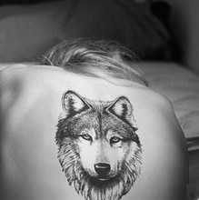 Waterproof Temporary Fake Tattoo Stickers Sexy Cool 3D Large Wolf Animals Design Back Body Art Make Up Tool