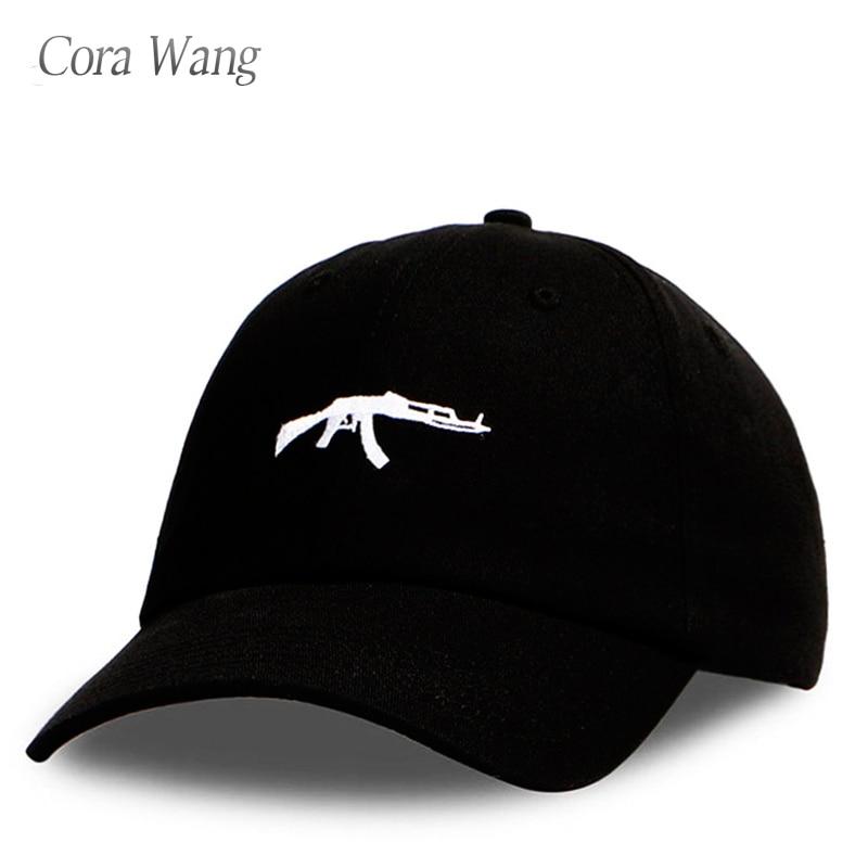 2018 top selling Uzi Gun Baseball Cap US Fashion 2018 Ak47 Snapback Hip hop Cap Curve visor 6 panel Hat casquette de marque