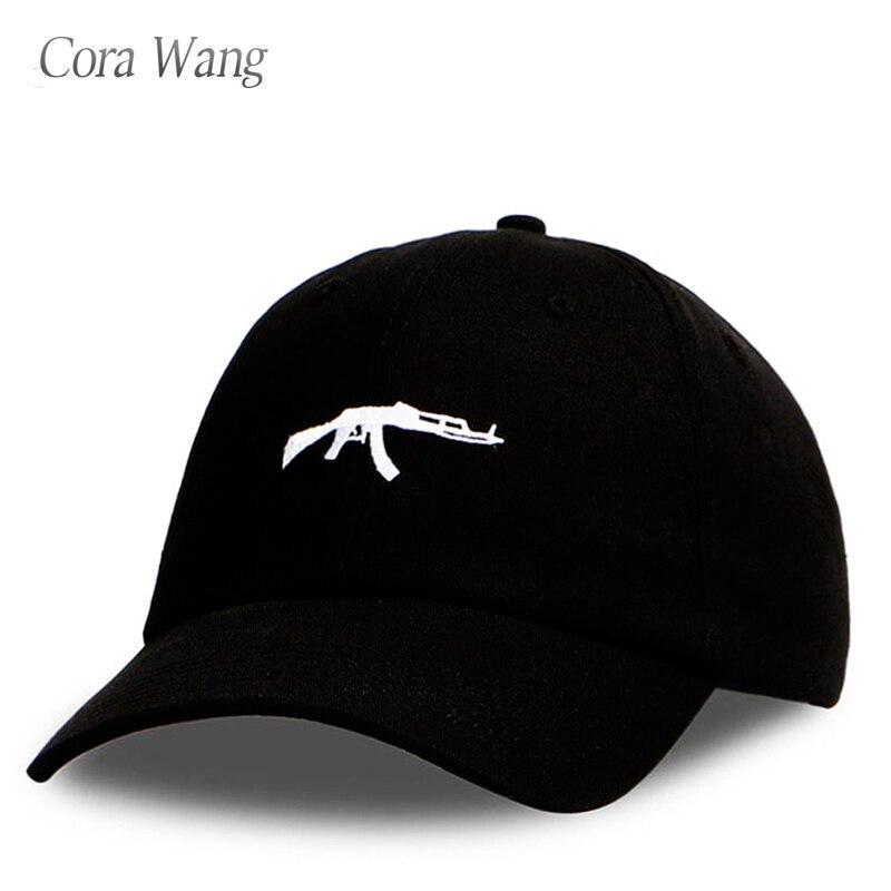 2018 top vente Uzi Gun Casquette de baseball NOUS Mode 2018 Ak47 Snapback Hip hop Cap Courbe visière 6 panneau Chapeau casquette de marque