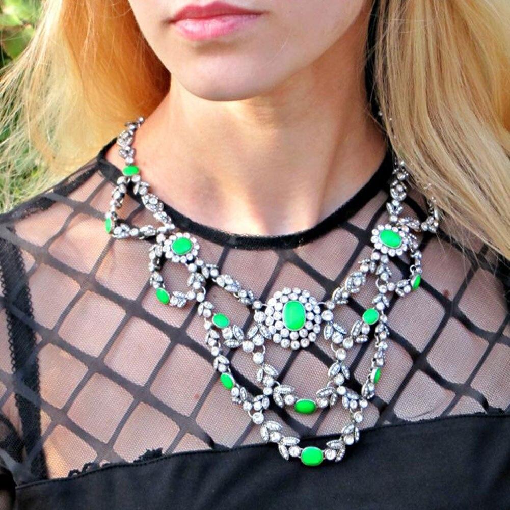e8d87bc7158f ̀ •́ TrinketSea Vintage Style Gorgeous Choker Statement Necklace ...