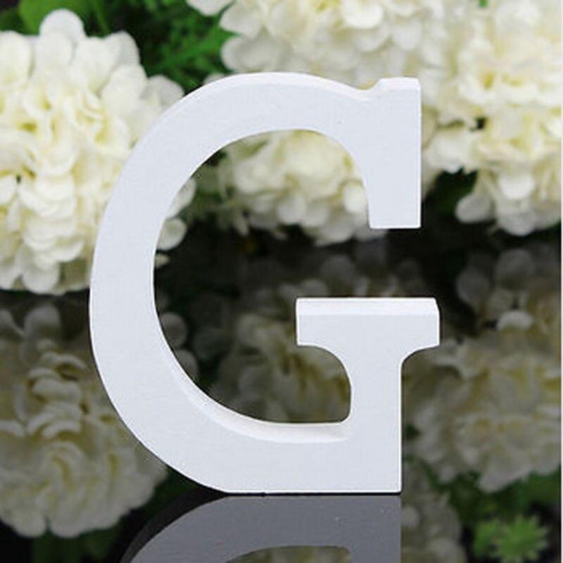8 см Творческий дом украшения деревянные буквы алфавита G имена знаки Свадебная вечеринка