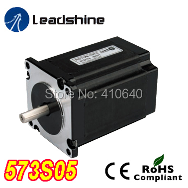 Free Shipping GENUINE Leadshine 573S05 3 Phase Hybrid Stepper Motor with 0.45 N.m 5.2 A length 42mm shaft 6.35 mm free shipping genuine leadshine 110hs28 phase nema 42 hybrid stepper motor with 28 n m 6 5 a length 201 mm shaft 19 mm