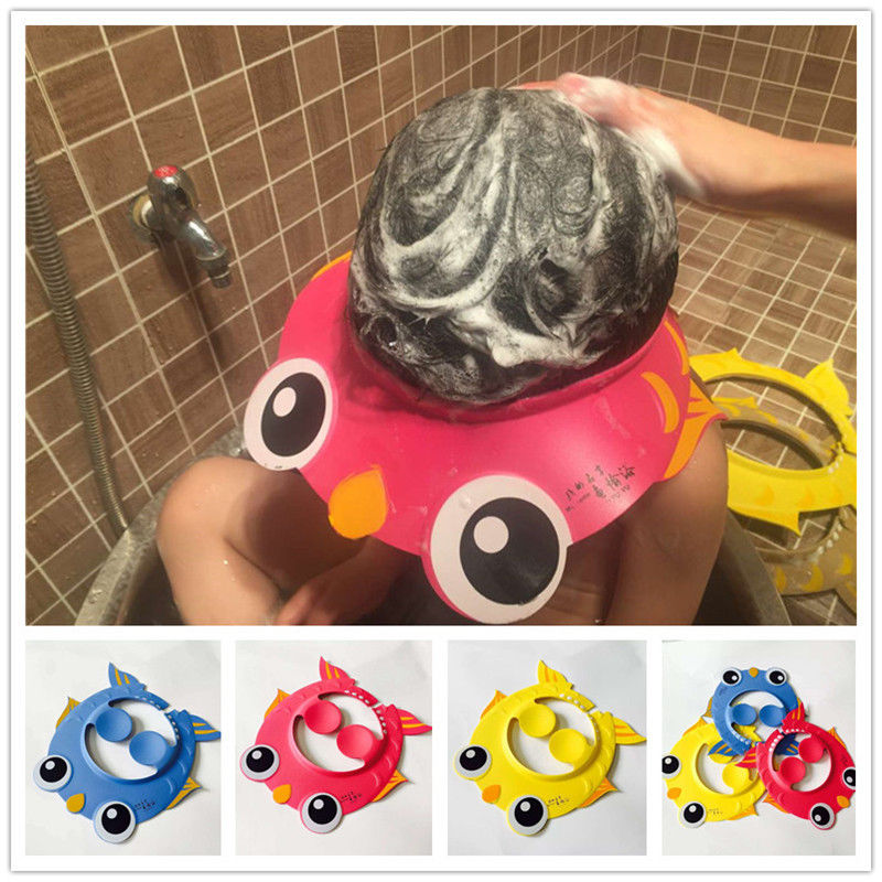 Pudcoco Newest Arrivals Hot Babies Children Kids Safe Shampoo Bath Bathing Shower Cap Hat Wash Hair Shield