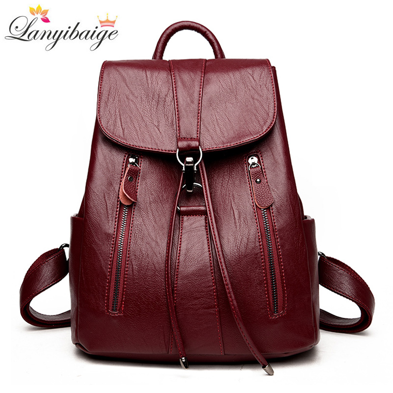 LANYIBAIGE New Arrival Woman Backpack Leather Brand Female Backpacks High Quality Schoolbag Large Capacity School Bag Travel BagLANYIBAIGE New Arrival Woman Backpack Leather Brand Female Backpacks High Quality Schoolbag Large Capacity School Bag Travel Bag