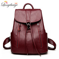 LANYIBAIGE New Arrival Woman Backpack Leather Brand Female Backpacks High Quality Schoolbag Large Capacity School Bag Travel Bag