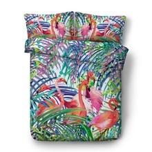 Flamingo Bedding sets Luxury bed cover Cotton sheets sheet 3D quilt duvet set Cal Super King Queen size full twin 4pcs