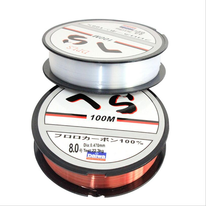 New style 100m sea fishing lin wear resisting lure nylon for Red fishing line