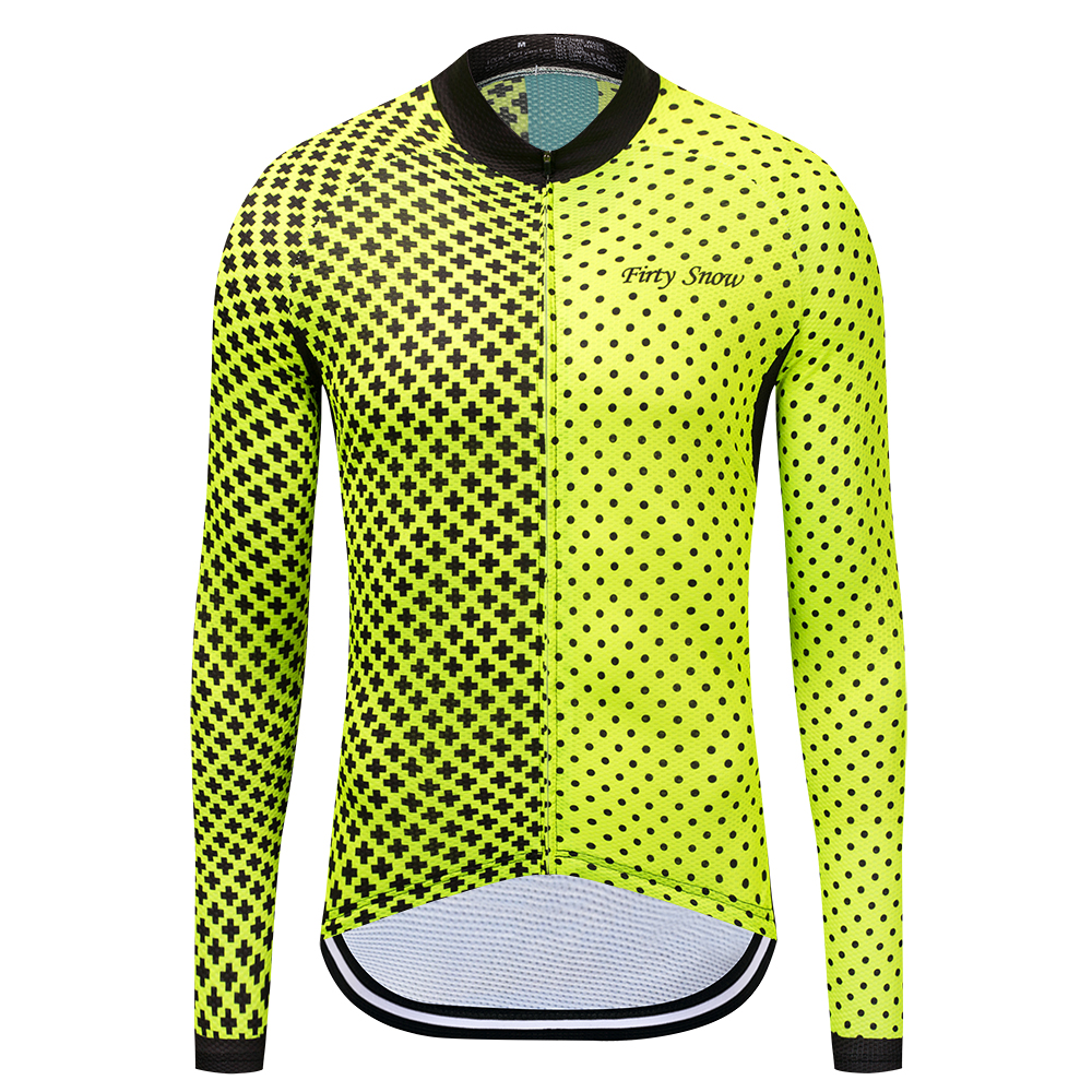 Firty Snow men Cycling Jerseys Autumn Sports Wear Long Sleeved Shirts Summer Reflective Jacket UV Protection Riding Clothing