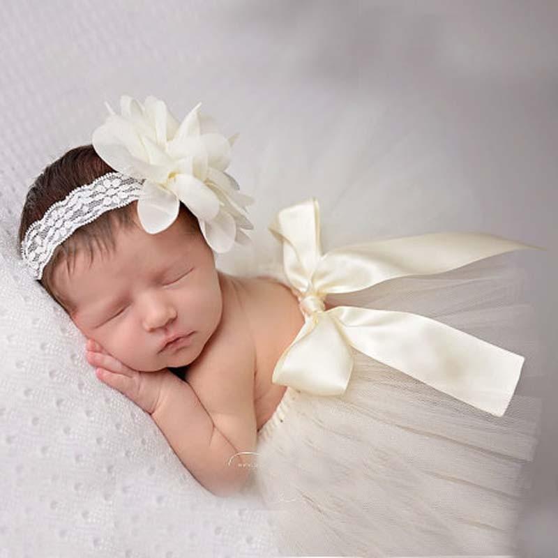 Newborn Baby Girls Tulle Tutu Skirt Amp Flower Headband