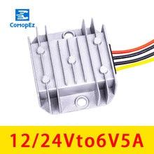 Convertidor de cc 12 V 24 V a 6 V 5A, módulo reductor, fuente de alimentación de coche 12 V 24 V inversor a 6 V