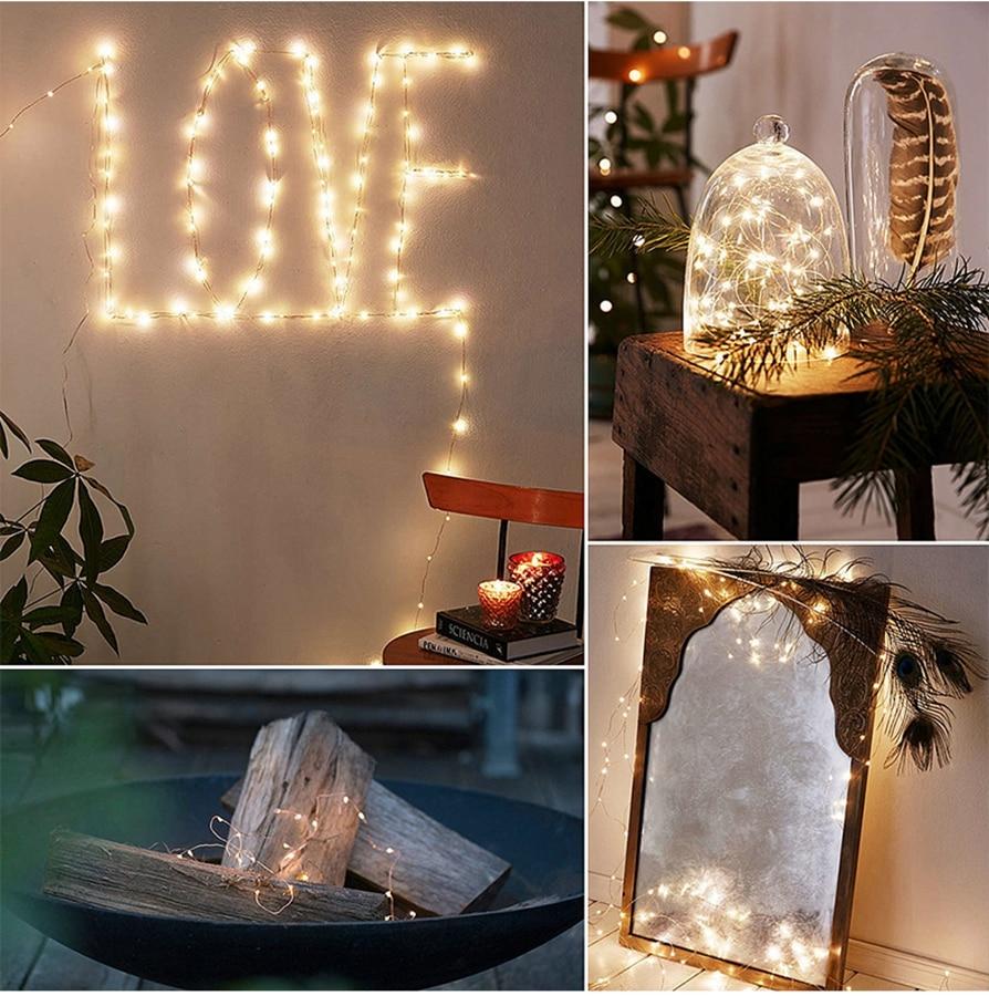 LED 문자열 구리 와이어 요정 조명 새해 크리스마스 - 휴일 조명 - 사진 6