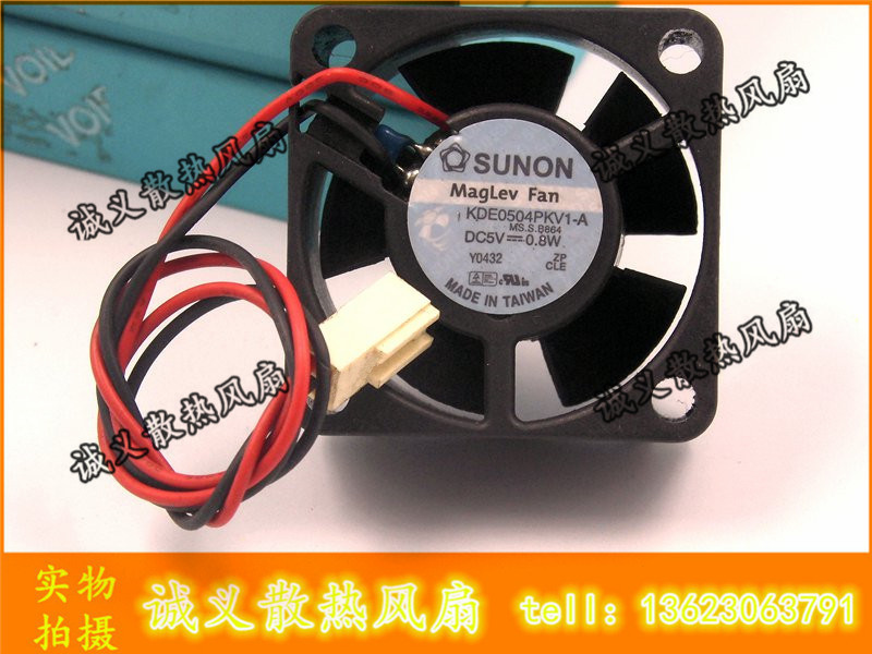 Free Shipping Server Square Cooling <font><b>Fan</b></font> SUNON 4020 <font><b>5V</b></font> 0.8W KDE0504PKV1-A 40*40*<font><b>20mm</b></font> 2Pin image