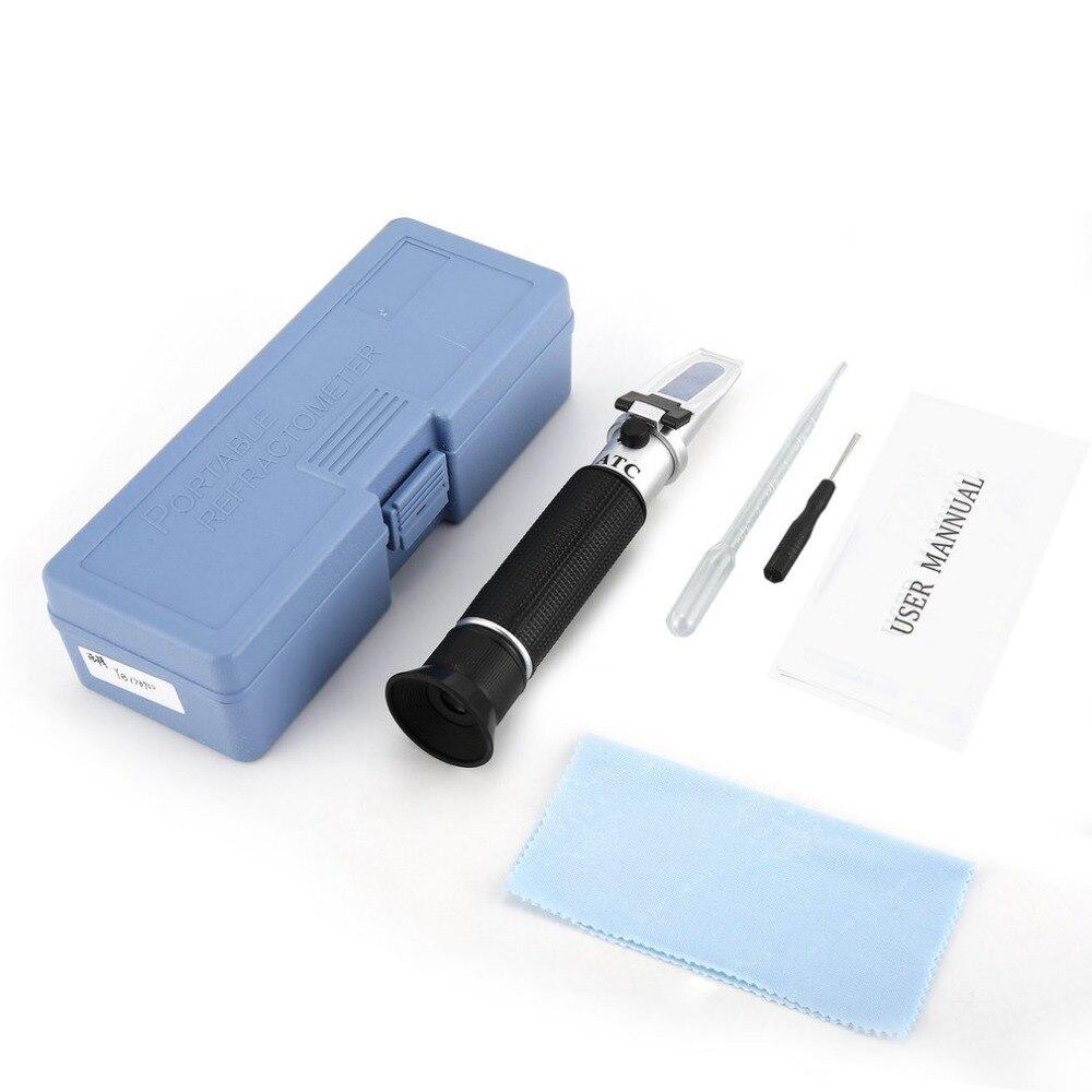 Réfractomètre de poche 0-80% Optique Alcool Liqueur et Esprits Wiskey Vodka Contenu Mètre Mini ATC Testeur De Mesure