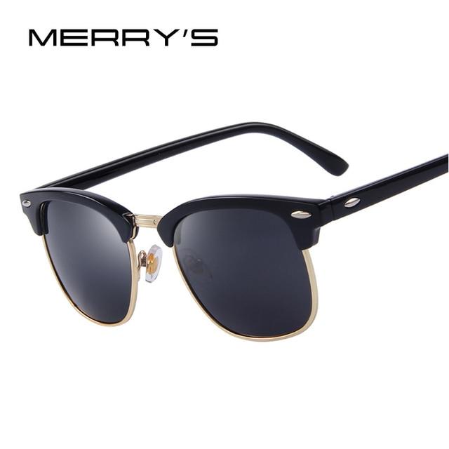 MERRY'S - Lunettes de soleil - Homme Noir argent vu8Mg