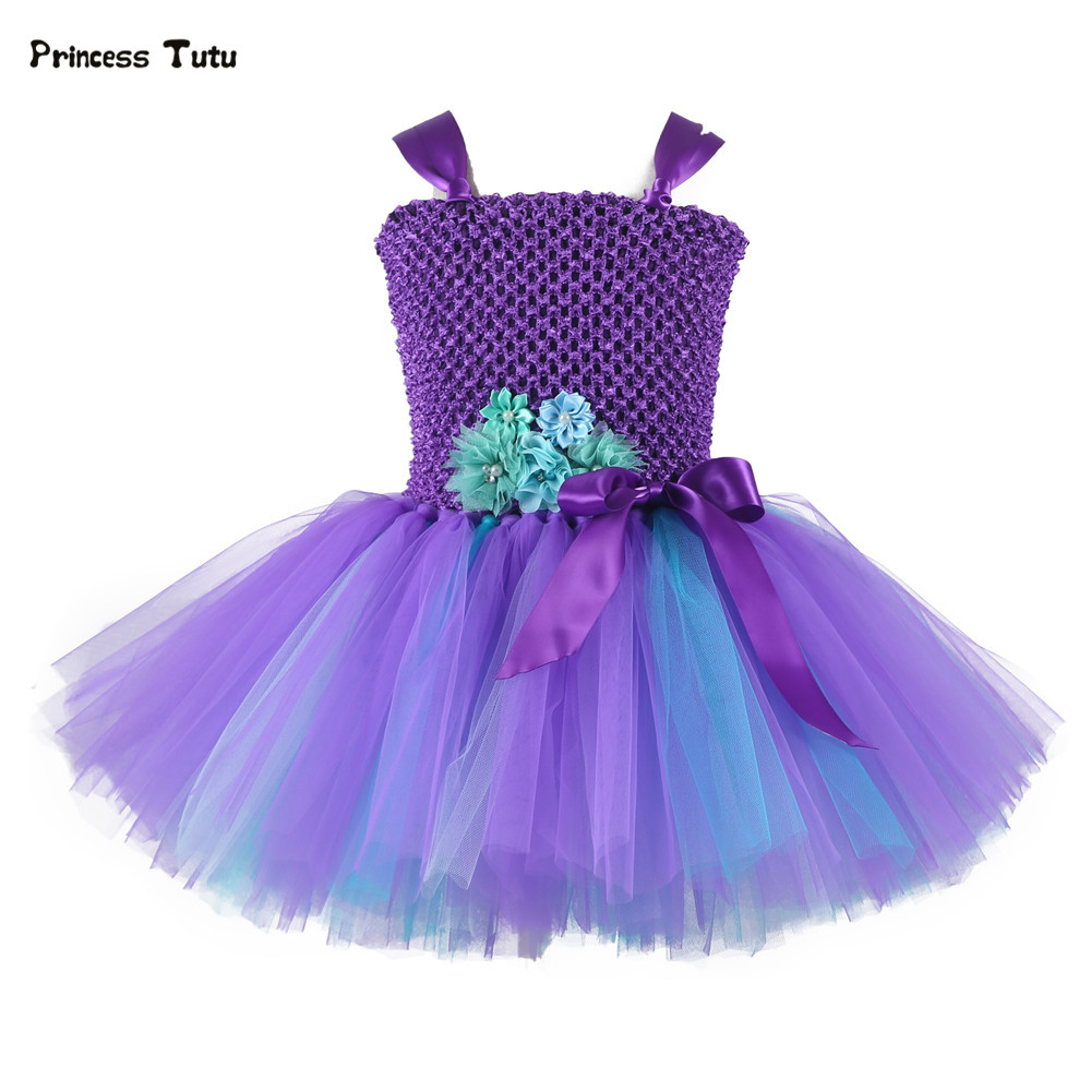 Purple Flower Girl Tutu Dress Baby Princess Dress Girl Birthday Party Prom Pageant Tulle Dress Kids Christmas Halloween Costumes oneaudio original on ear bluetooth headphones wireless headset with microphone for iphone samsung xiaomi headphone v4 1 page 3