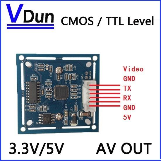 NEUE RS232/TTL JPEG Digitale Serielle Kameramodul SCB-1 mit video Unterstützung VIMICRO VC0706 protokoll Cctv-kamera
