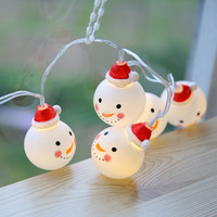 Outdoor String Light Garden Christmas Snow Head Party Fairy Lamp Party Celebration Holiday Gifts 20 LED