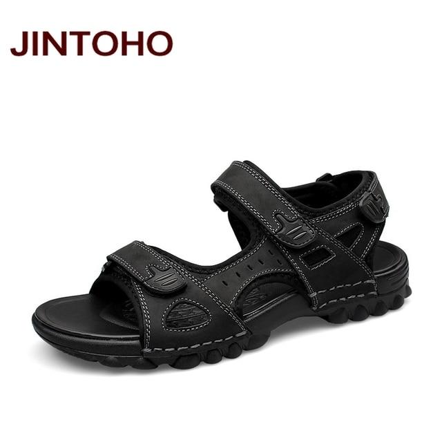 Hommes sandales pantoufles en cuir PU Casual ét... swXrF2Eu