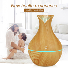 FDIK Air humidifier usb aroma diffuser mini wood grain ultrasonic atomizer aromatherapy essential oil diffuser for home office