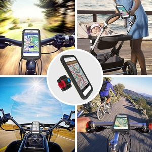 Image 5 - Bike Bicycle Motorcycle Handlebar Mount Holder Cell Phone Bag Holder With Shockproof Case Protection Stand For Iphone Xr/Xs Max
